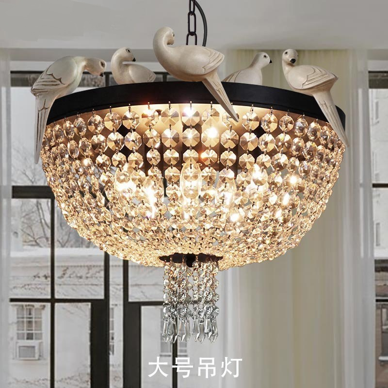 Designer lights restaurant lights American country birds Pendant Lights creative living rooms coffee shops cuckoo lamps LU71113