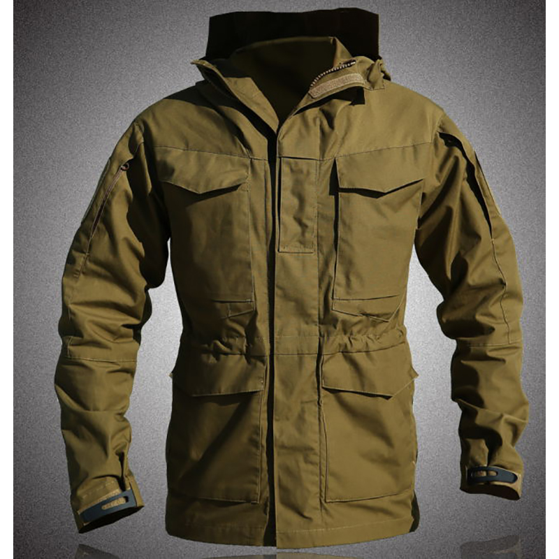Men s Autumn Winter M65 Army Military Tactical Hoodie Windbreaker Waterproof Flight Pilot Coat jackets Hiking Trainning Jacket winter outdoor tactical military training windbreaker hooded coat outwear men s hiking climbing cotton warm waterproof jacket
