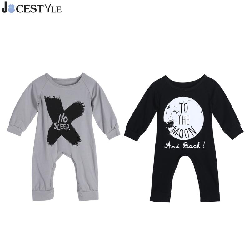 Winter Newborn Baby Kids Clothes Boys Long Sleeve Letter Print Rompers Jumpsuits Toddler Boy Clothing Infant Boy Clothes