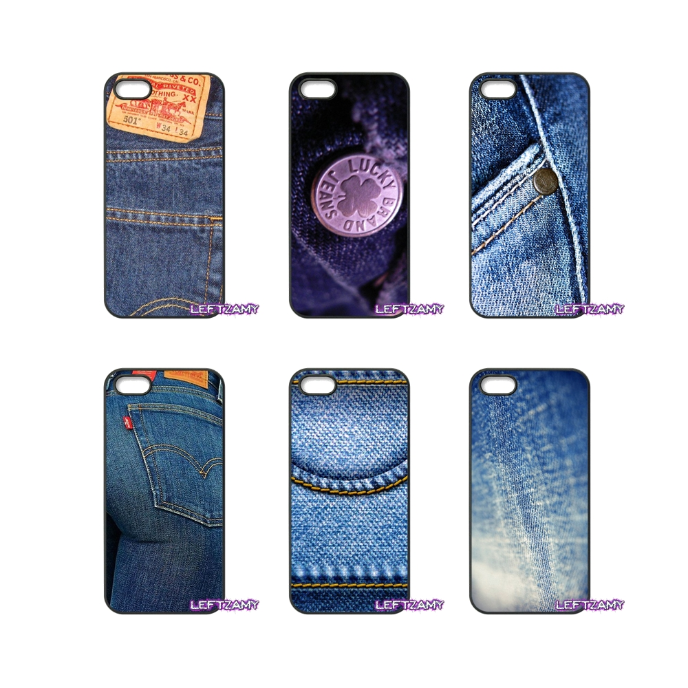 2e0f2860edadb3 Jean Style Blue Fashion Art Hard Phone Case Cover For iPhone 4 4S 5 5C SE 6  6S 7 8 Plus X 4.7 5.5 iPod Touch 4 5 6-in Half-wrapped Case from ...