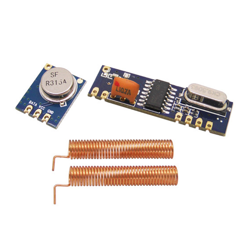 433MHz 100 Meters ASK Wireless Module kit RF transmitter STX882+ RF receiver SRX882 With Copper Antenna dra887rx 433mhz superheterodyne ask receiver module for picaxe arduino