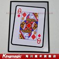 Ace to Queen Jumbo bicycle card Prediction Made Visible magic tricks magic props as seen on tv