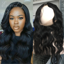 Peruvian human hair 360 Lace frontal closure with adjustable straps body wave 360 lace virgin hair full lace frontals band