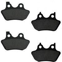 Motorcycle Front Rear Brake Pads Disks For Harley Dyna Super Glide Custom Street Bob FXDC FXDCi