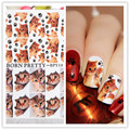 2 Patterns/Sheet BORN PRETTY Water Decals Lovely Cat Claw Design Manicure Nail Art Transfer Sticker BPY19