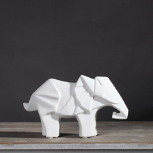 white black ceramic elephant home decor crafts room decoration lovers ornament porcelain animal figurines