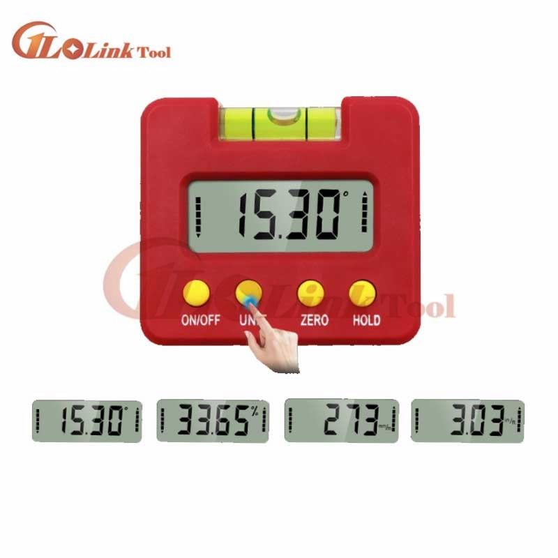 Digital Inclinometer tilt angle box Protractor Electronic Goniometer Inclinometro Level Horizontal Angle Protractor