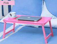 Fashion Style Portable Lapdesks Folding Laptop Table Bed Computer Desk Bamboo Wood Folding Laptop Table Good