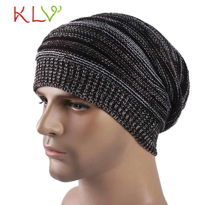 2017 Skullies & Beanies Mens Cashmere Winter Crochet Hat Ski Knit  Warm Cap Y8073 skullies
