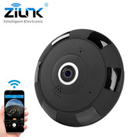 ZILNK IP Camera 1080P HD FishEye 360 Degree Panoramic Mini WIFI Camera Wireless Network Support 64GB