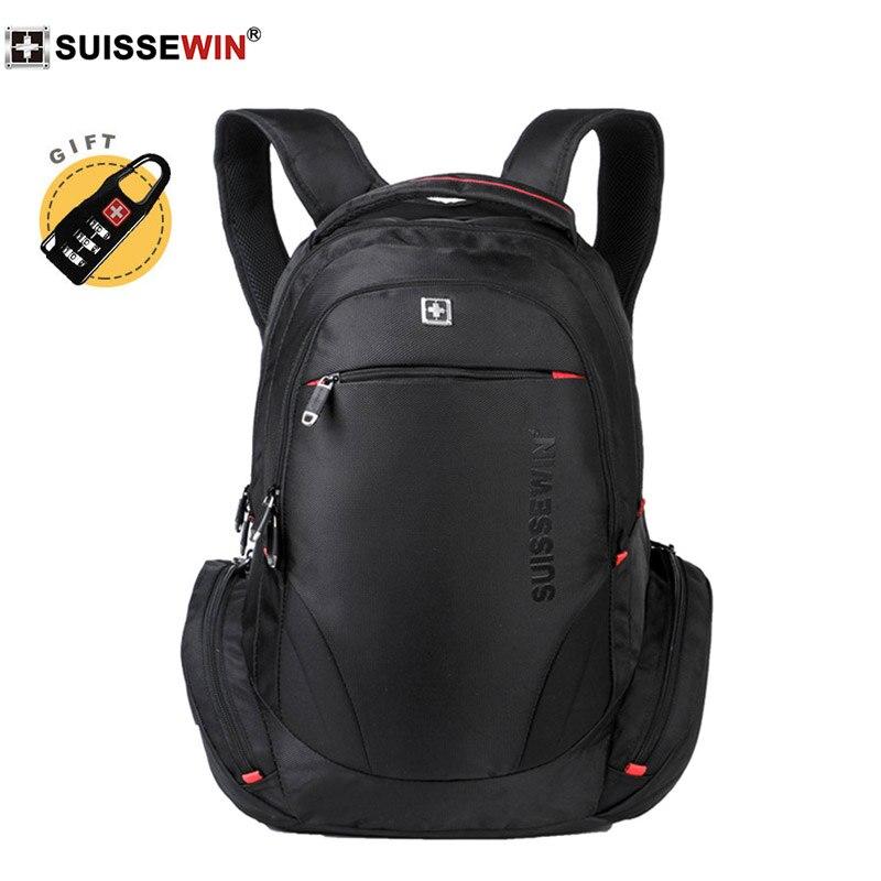 2019 swiss suissewin brand 3 color nylon backpack Waterproof 17 inch laptop bagpack Business travel school