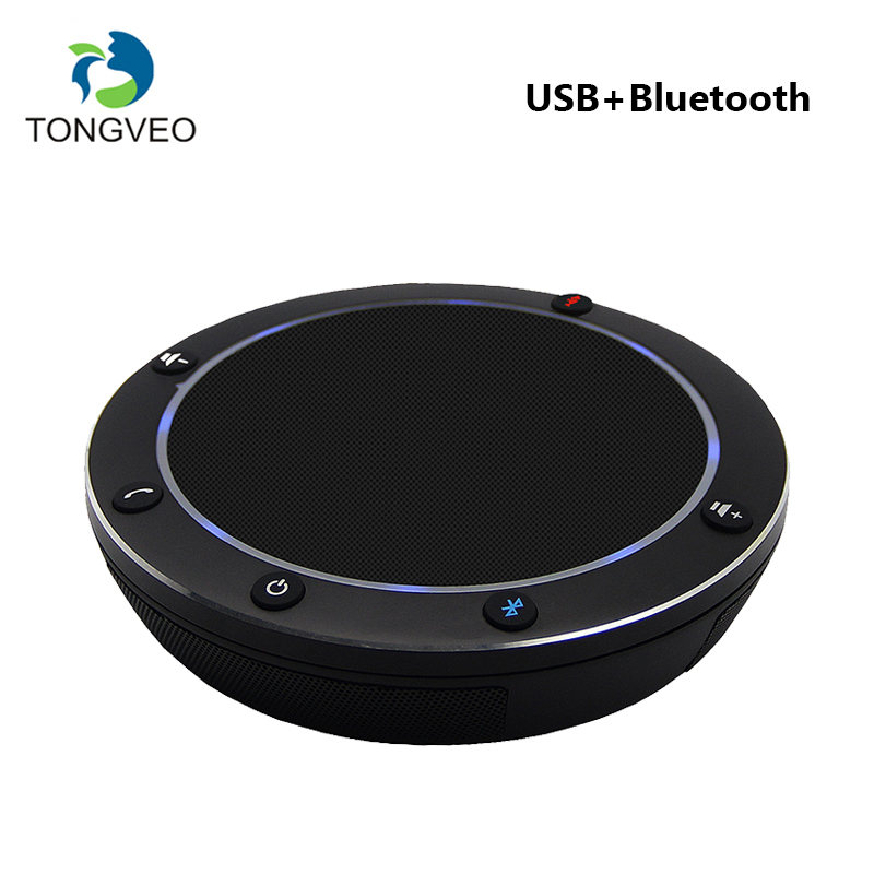 TONGVEO NA100B USB Bluetooth Microphone for Desktop Conference Speakphone With LED Indicator light 3 Omnidirectional Microphones