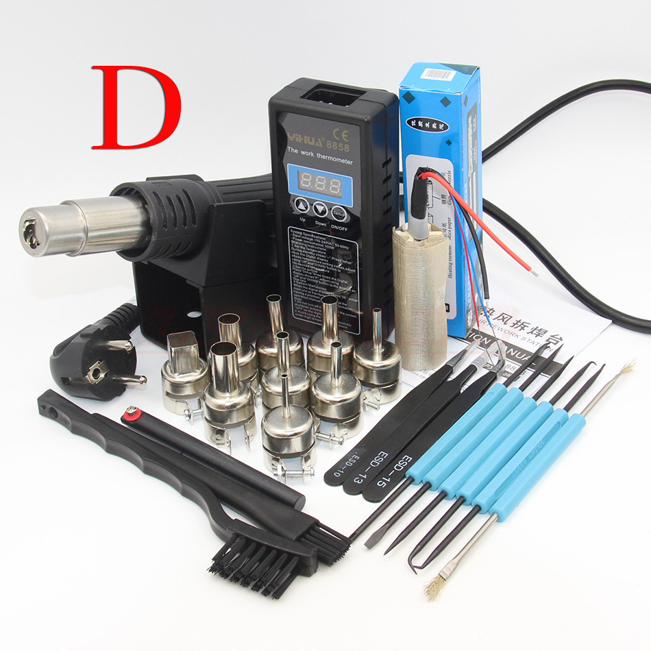 YH 8858 110V 220V Portable BGA Rework Solder Station Hot Air Blower Heat Gun Yihua 8858