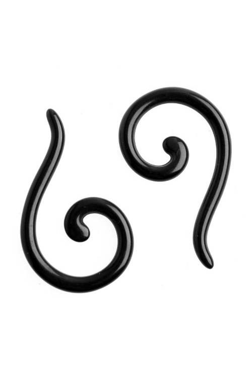 Acrylic Spiral Taper Flesh Tunnel Ear Stretcher Expander Questions Mark Design Earrings