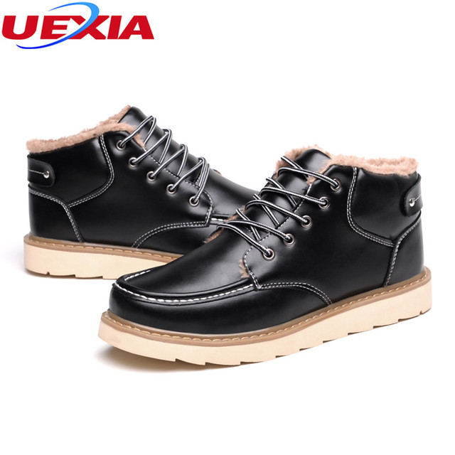 Autumn&Winter Men Shoes Male Short Martin Boots Casual Fashion Outdoor High Quality Working High-Cut Lace-up Warm Hombre Botas