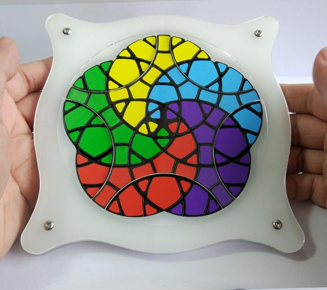 Marca Nueva VeryPuzzle Geranio Plus Cubo Mágico Rompecabezas En Stock Alta Calidad de Edición Limitada Twisty Puzzle Niños Juguetes Educativos
