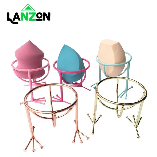 Lanzon Beauty Makeup Sponge Egg Display Stand Holder Chicken Feet Shape Make up Powder Puff Sponge Storage bag Tool Drying Rack