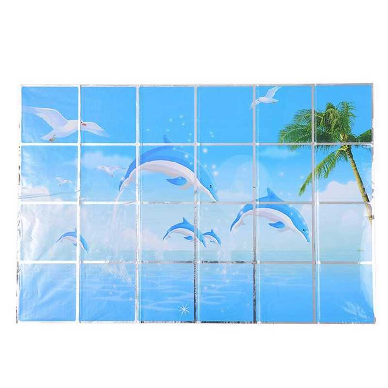 À prova de óleo adesivo alumínio papel auto adesivo adesivos de parede da cozinha à prova dwaterproof água papel de alta temperatura resistência