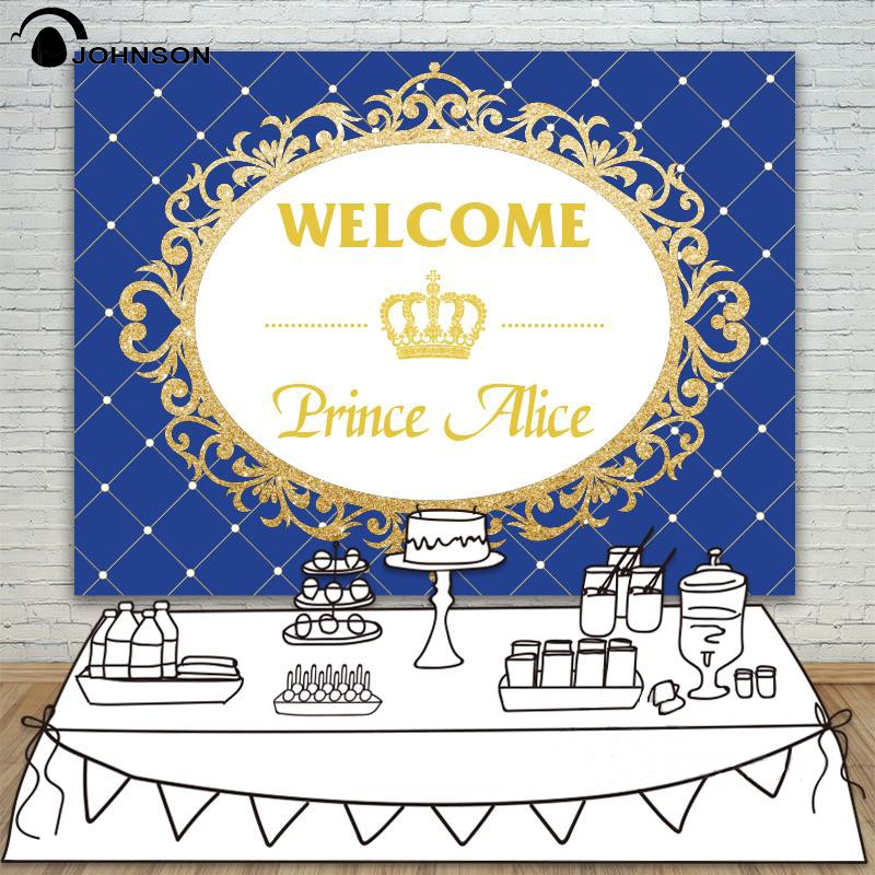 DIY custom Blue Gold Wall Baby Shower Invitation Celebration Party backdrop Vinyl cloth Computer printed birthday  Background osherson an invitation to cognitive science – v3 thinking cloth