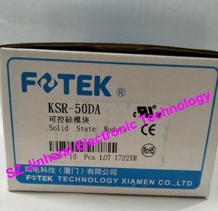 New and original FOTEK Economical solid state relay KSR-50DA   50A   24-380VAC   3-32VDC 100% new and original fotek photoelectric switch a3g 4mx mr 1 free power photo sensor