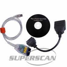 MINI-VCI J2534 TOYOTA TIS Techstream MINI VCI OBD2 odb2 OBD-ii OBD 2 Diagnostic Tool with Toyota 22pin 22 pin Cable