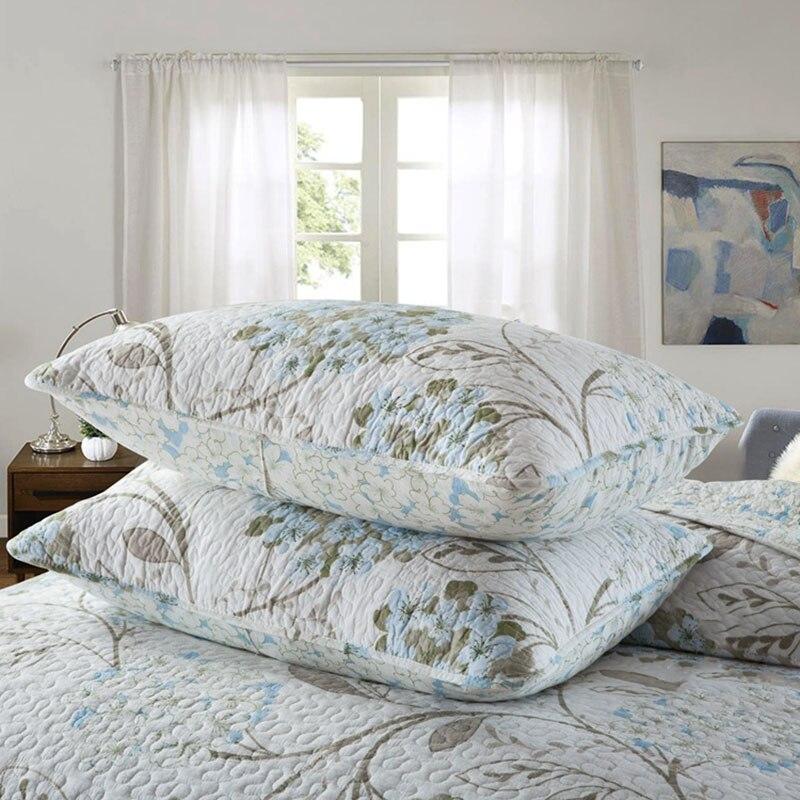 Kwaliteit Gedrukt Sprei Dekbed Set 3 st Gewatteerde Beddengoed Katoen Quilts Bed Covers Kussensloop King Queen Size Dekbedden Deken-in Quilts van Huis & Tuin op  Groep 3