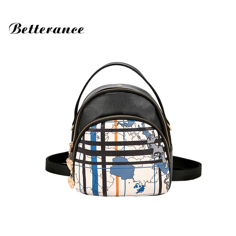 2018 Betterance Women Backpacks Small School Bags PU Leather travel backbag shoulder bag