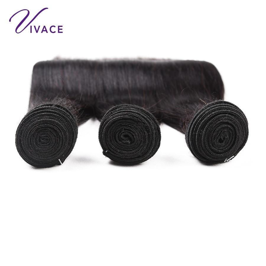 VIVACE Hair Brazilian Straight Mänskliga Hårvävspapper Human Hair - Mänskligt hår (svart) - Foto 2