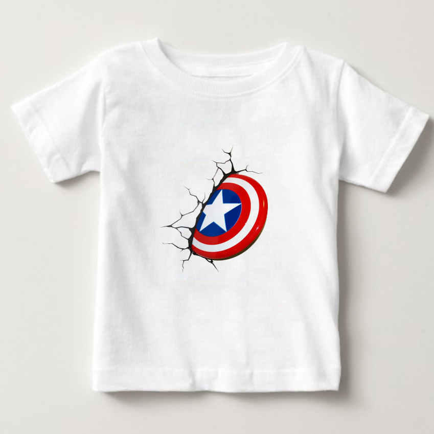 The Super Hero Cartoon Edition T shirt kid t shirt summer top boy/girl T-shirt baby t-shirt white Short Sleeve tshirts 2-15year