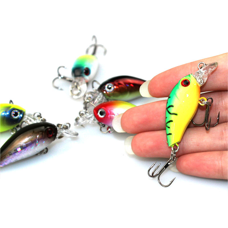 1Pcs 4.5cm 4.2g Mini Fishing Lure iscas artificiais para pesca topwater Wobbler Japan Crankbait fishing tackle WQ209