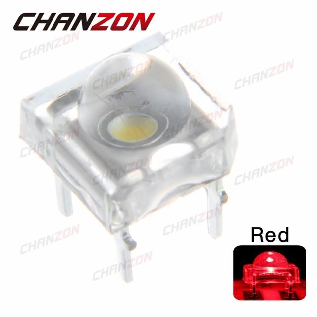 100 шт. 5 светодио дный LED Piranha красный супер поток прозрачный мм 5 мм Ультра яркий прозрачные светодио дный линзы LED светодиод лампа через отверстие 4 булавки