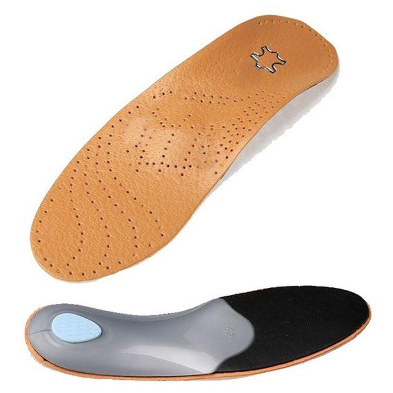 1 Paar Frauen Männer Orthesen Einlegesohlen Flache Fuß Faux Leder Hohe Arch Support 2,8-3 Cm Orthopädische Schuhe Pad Einfach Zu Verwenden