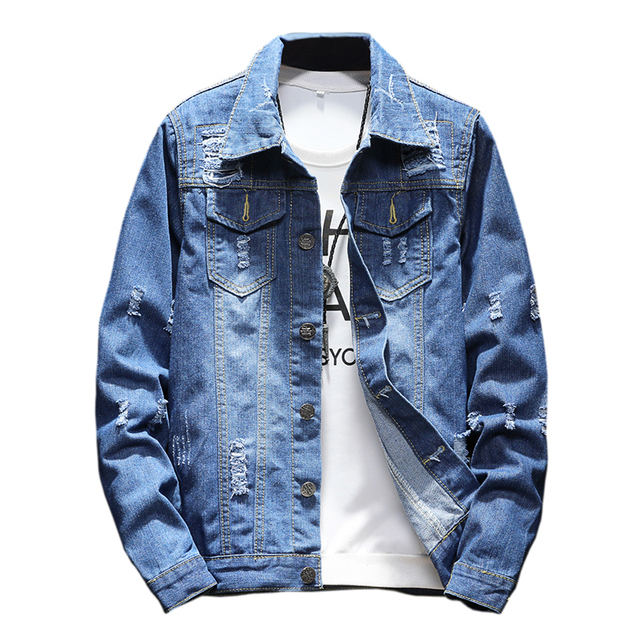 Brand 2018 M 5xl Men Jean Jacket Clothing Denim Jacket Fashion Mens