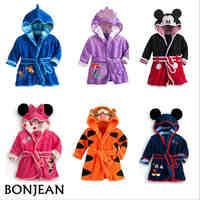 Baby Boys Robe For Girls 2019 Children's bathrobe Minnie Mickey Soft Velvet Robe Pajamas Coral Baby Kids Warm Clothes 2-6Y