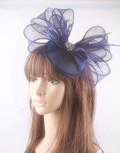 Sinamay material fascinator base headpiece