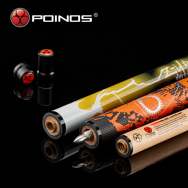Made In China Poinos ZU Billiard Pool Cue Jump Break Stick Billiard 3PC 14MM Black Phenolic Tip Ferrule 19OZ Maple Shaft
