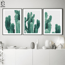 Nordic Poster Cactus Canvas Art Decorative Green Plant Wall Pictures Paintings on The Living Room Home Decor Prints