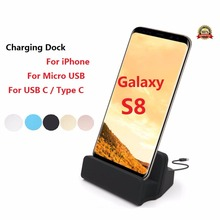 Premium Type C Dock USB C Dock Station Stand Sync Data Charger for iPhone 6 7 Plus 5 5S Docking USB Charger Micro USB Dock