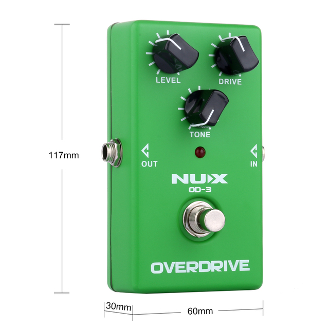 NUX OD-3 Electric Guitar Effect Pedal True Bypass Overdrive Effect Guitar Pedal