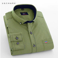U & SHARK 2016 Camisas Dos Homens Da Manta Da Luva Completa Vestidos Chemise Homme Camisa Masculina Fino Camisa Casual Para Homens Aeronautica masculino