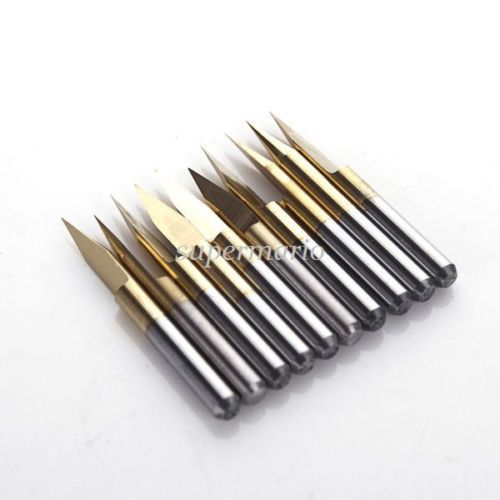 1pcs tungsten steel V shape Titanium Coated Carbide PCB Engraving CNC Bit Router Tool 40degree 0.2mm wholesale 2016 fresa cnc router free shipping 10pcs pcb tungsten 3 175 2 0 10mm titanium coated tool cutter bit for key cutting machine