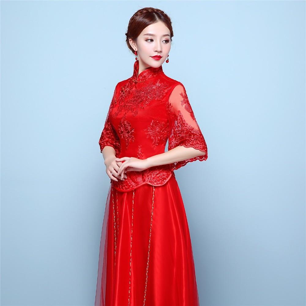 Traditional Half Sleeve Wedding Dress