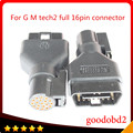 OBD2 16PIN Connector For G M TECH2 Diagnostic Tool 16 PIN Adaptor G M TECH 2 Scanner  Tech2 Vetronix tool full 16pin obd2 port
