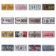 Get more info on the USA Car Plates Number License Plate Garage Plaque Metal Tin Sign Bar Decoration Vintage Man Cave Shabby Chic Decor 15X30cm C11