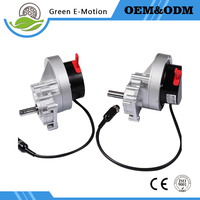 Left Right One Pair 24v 200w Low Speed High Torque Brush DC Gear Motor For Electric