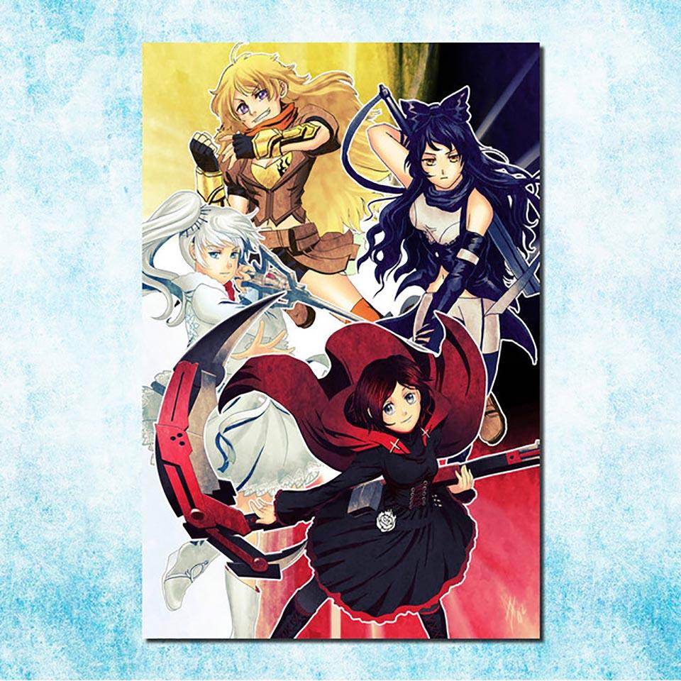 Y714 RWBY America Anime TV Show Hot Fabric Poster 16x16 24x24