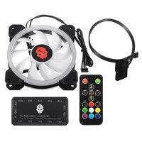 120mm RGB Adjustable LED CPU Cooling Fan Computer Cooler RGB Silent CPU Cooling Fans Radiator Heatsink