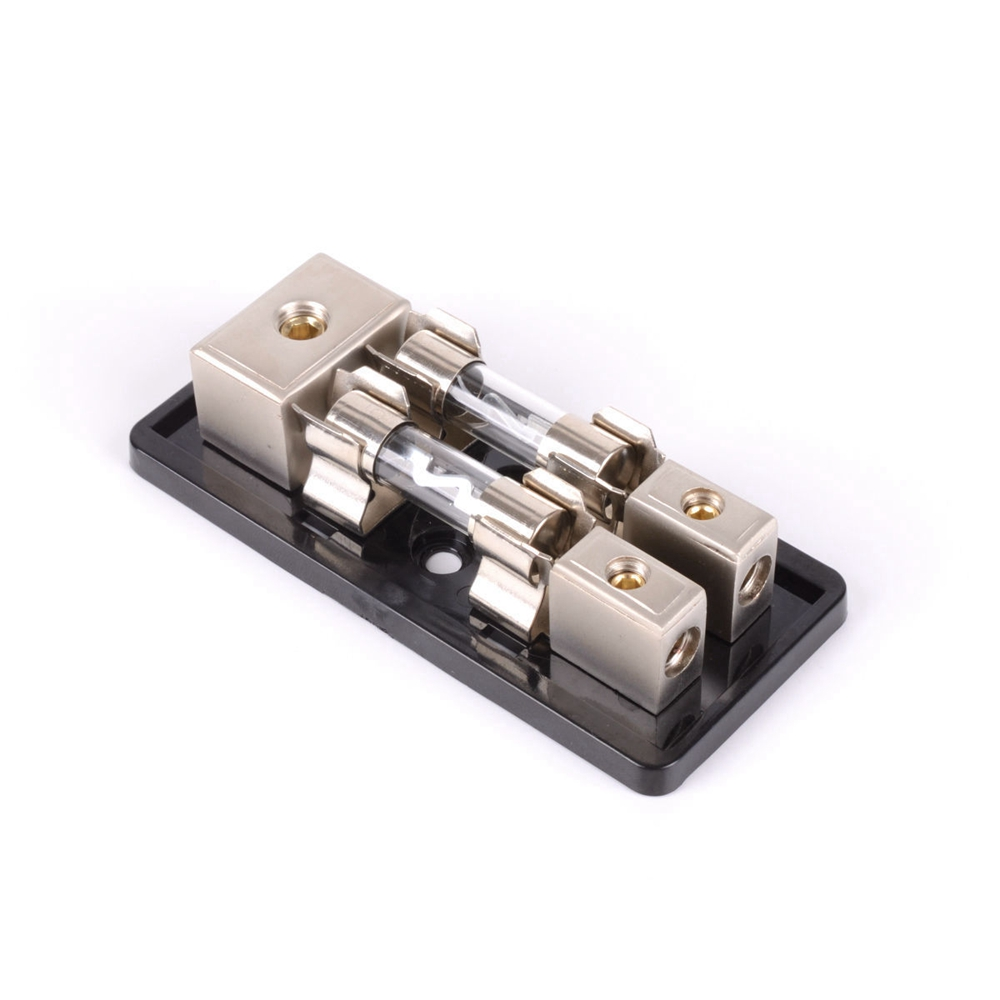2 Way Agu In Line Fuse Holder Distribution Block Stereo
