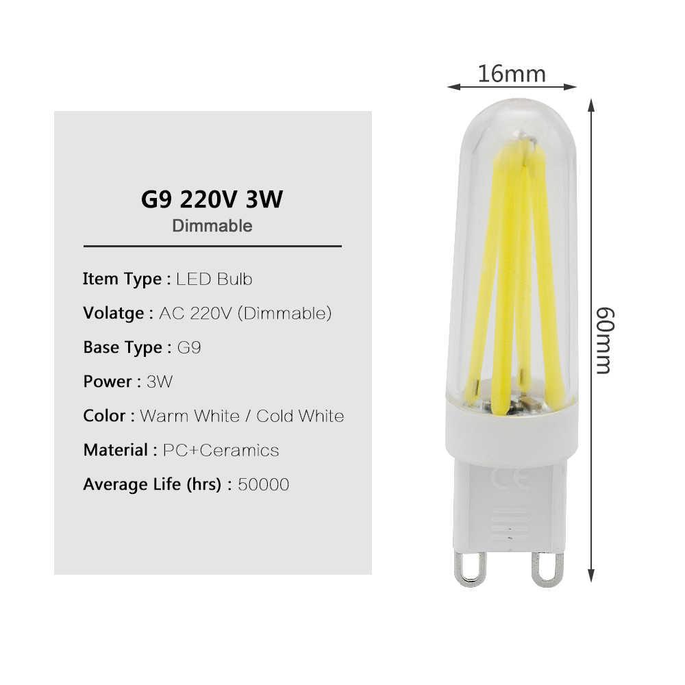 1Pcs Mini G9 LED Bulbs AC 220V 240V Dimmable LED COB 4 LED Filament Light Bulb Chandelier Spotlight Replace Halogen Bulbs