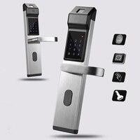 Smart Door Lock Fingerprint / Digital Password / Key / IC Card 4 in 1 Electronic Smart Door Locks For Home Office Apartment